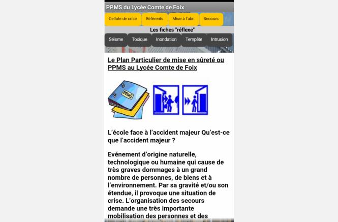 Application PPMS pour Smartphone