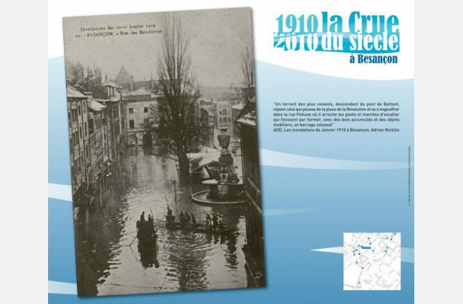 1910 – 2010 : Anniversaire de la crue du siècle à Besançon