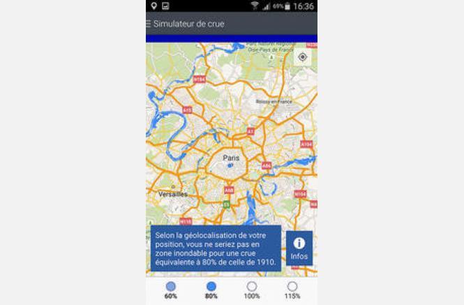 Application mobile : Simulateur de crue
