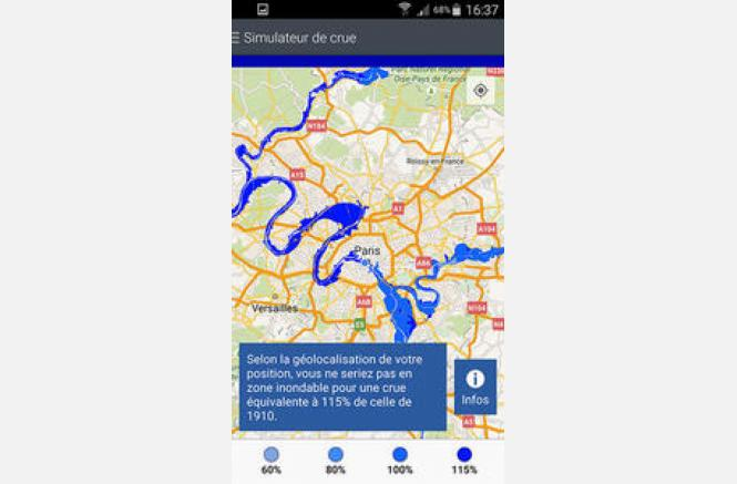 Application mobile : Simulateur de crue