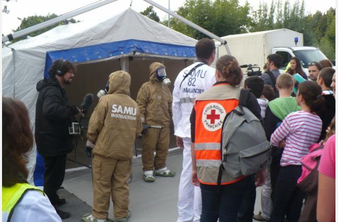 Sensibilisation au risque nucléaire à travers la participation  à un exercice de sûreté nucléaire à Golfech